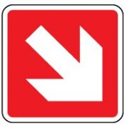 Fire Safety Sign - Fire Arrow 45 Right Down 012